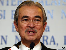 Malaysian Prime Minister Abdullah Ahmad Badawi, file pic from April 2008