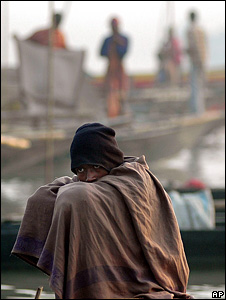 Boatman in India