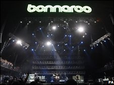 Metallica performing at Bonnaroo