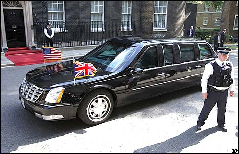 George W Bush's car in Downing Street