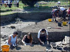 The Rushen Abbey dig