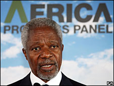 Kofi Annan in London, 16 June 2008