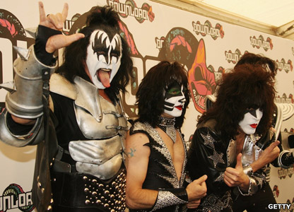 Gene Simmons, Eric Singer, Paul Stanley and Tommy Thayer from KISS