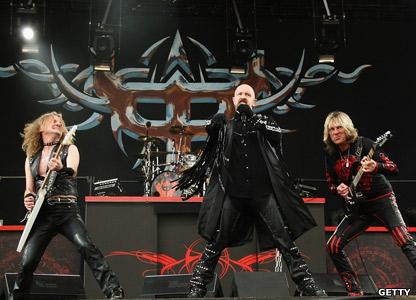 K.K. Downing, Rob Halford and Glenn Tipton from Judas Priest