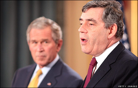 Brown and Bush news conference