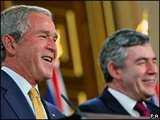 George Bush and Gordon Brown
