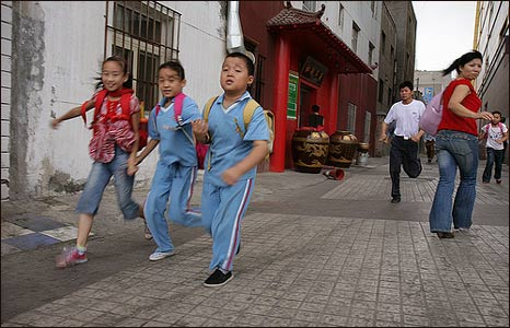Children in Urumqi, China (Photo: Pawel Boguslawski)
