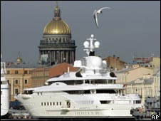 "The ""Pelorus"", the luxury yacht owned by Russian billionaire Roman Abramovich"