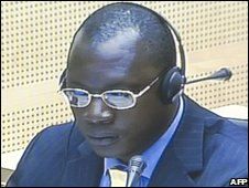 Thomas Lubanga in court, file image, July 2006
