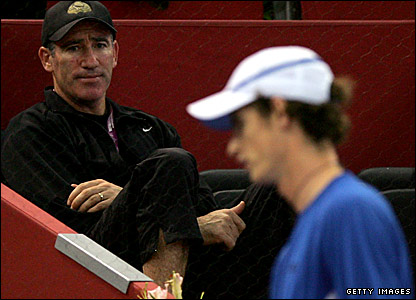 Brad Gilbert (left) and Andy Murray
