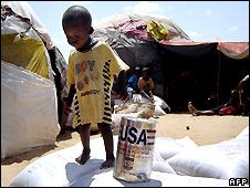 Somali boy at refugee camp near Mogadishu - 27/3/2008