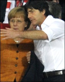 Joachim Low and Angela Merkel