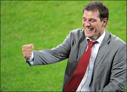 Croatia manager Bilic celebrates