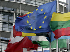 Flags of EU and member nations - file photo