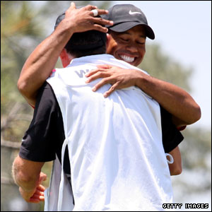 Tiger Woods and caddie Steve Williams