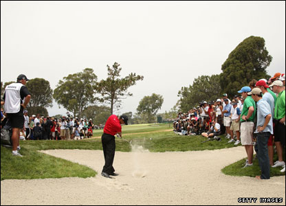 Tiger Woods at the 15th