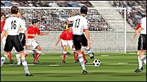 A 3D animation of Michael Ballack scoring for Germany