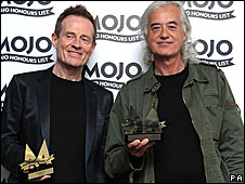 John Paul Jones (left) and Jimmy Page of Led Zeppelin