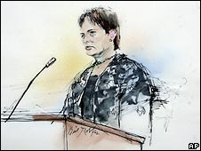 Court drawing of Lori Drew