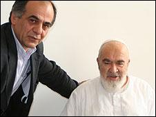 Sadeq Saba with Ayatollah Hossain-Ali Montazeri