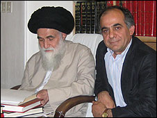 Sadeq Saba with Grand Ayatollah Sadeq Rouhani