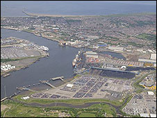 2008 aerial view of the port