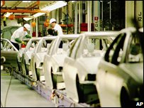 US car production line