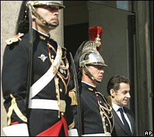 Nicolas Sarkozy at Elysee Palace on 14 June 2008
