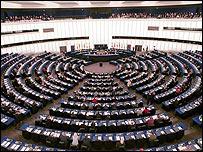Hemiciclo del Parlamento Europeo en Estrasburgo, Francia