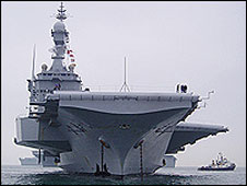 French aircraft carrier Charles de Gaulle (file picture)