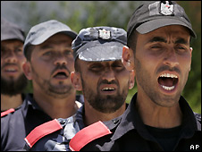 Palestinian security forces of Hamas train in Gaza City - 14/06/2008
