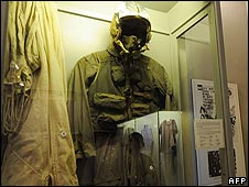 "John McCain's flight suit at the ""Hanoi Hilton"""