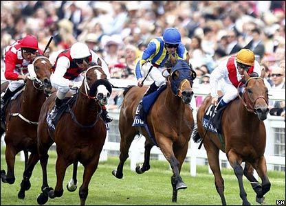 Equiano wins the King's Stand Stakes under Olivier Peslier