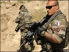 French soldiers in Afghanistan - file picture