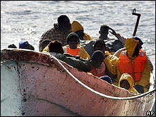 African migrants off Tenerife, Spain (file pic)