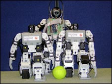 Robot football team