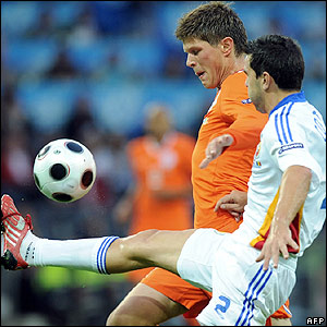 Huntelaar bears down on goal