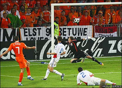 Van Persie nets Holland's second