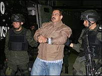 """Diego Murillo, """" Don Berna"""", antes de su extradici�n a EE.UU., AP"""
