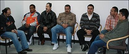 Paramilitares colombianos extraditados a Estados Unidos: Rodrigo Tovar, Manuel Torregrosa, Hernan Giraldo, Diego Murillo, Francisco Zuluaga, Guillermo Alzate y Nodier Giraldo, AP