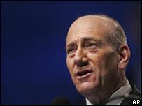 Ehud Olmert el 3 de junio