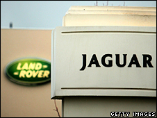 Land Rover and Jaguar signs
