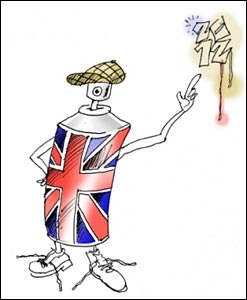 David Ayre's mascot