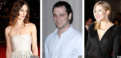 Keira Knightley, Sienna Miller and Matthew Rhys
