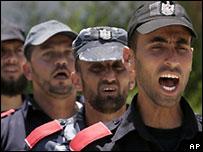 Fuerzas de Hamas en Gaza