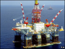 A BP oil rig in the Gulf of Mexico - file photo from 2005