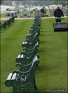 The viewing area within the Royal Enclosure gets its final cut ahead of Wednesday's racing