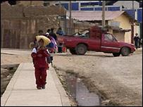 El pueblo de Morococha, en Perú.
