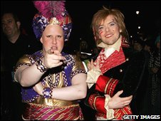 Matt Lucas and Kevin McGee at their civil partnership reception