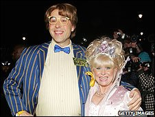 David Walliams and Barbara Windsor